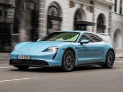 Porsche Taycan прошел сертификацию в России и заметно подешевел