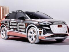 Кроссовер Audi Q4 e-tron начали рассекречивать с интерьера