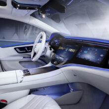 Показан интерьер электромобиля Mercedes-Benz EQS